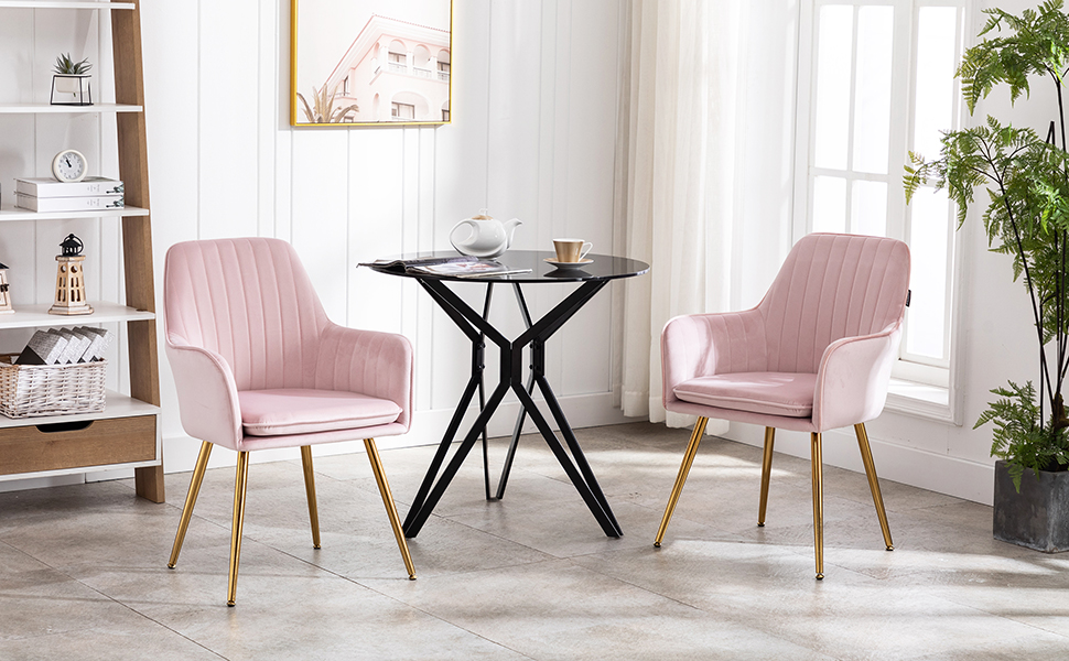 PINK  chair with golden legs