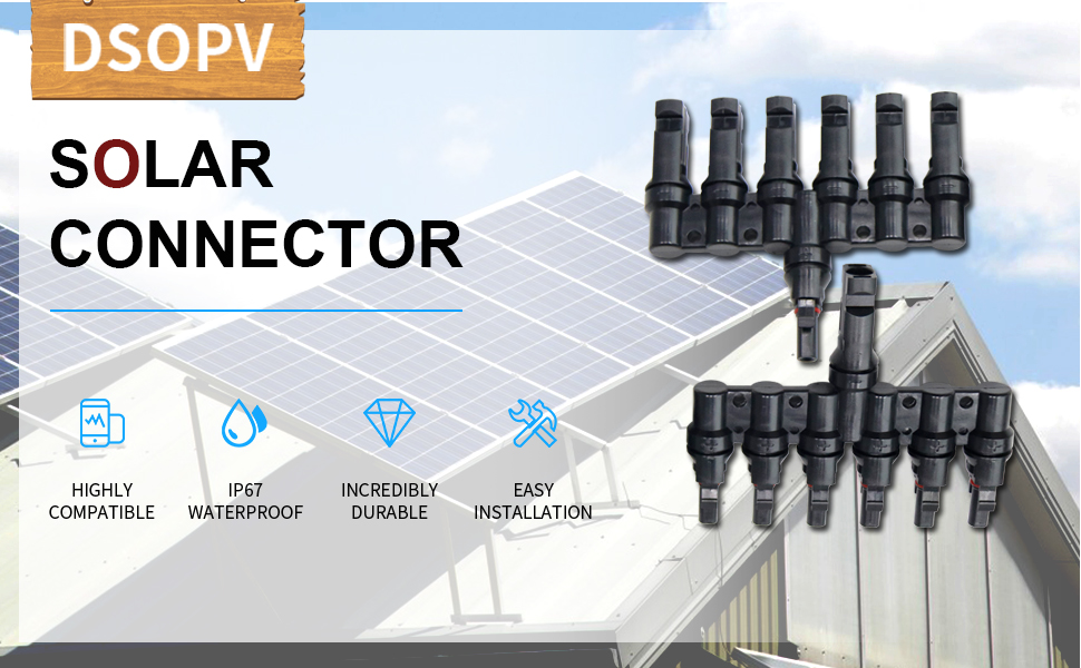T Branch 6-1 Solar PV Photovoltaic Connector with TUV UL for Solar Panel System