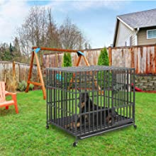 Indoor Outdoor Pet Playpen  dog pen large and extra large dog pen with tray metal dog playpen