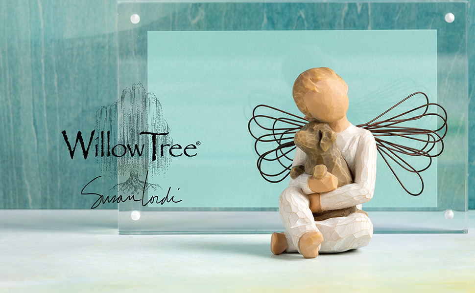 Willow Tree Angel of Comfort, Sculpted Hand-Painted Figure on background