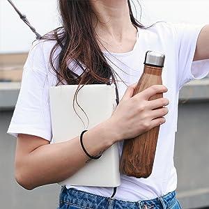 KAILH Doble Pared con Aislamiento de Botella Agua de Acero Inoxidable, Botella Agua Gimnasio, Botella Agua Deportiva, Cantimplora de Agua ...