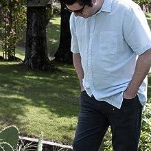 mens linen short sleeve shirt
