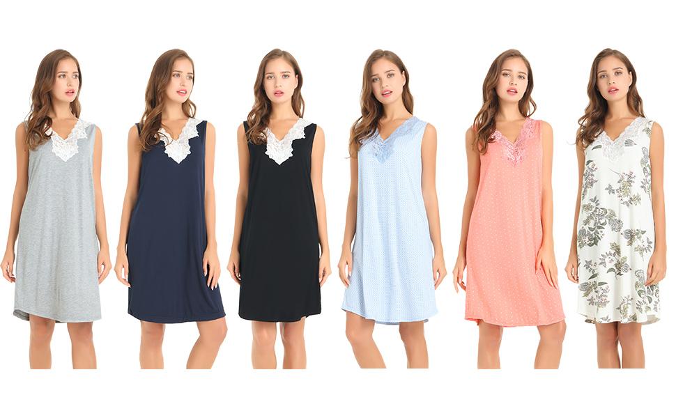 Sleeveless Night Gown