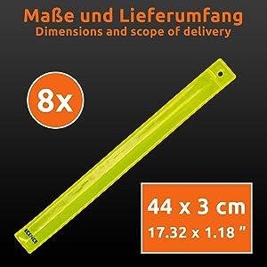Reflektorband Schnapparmband Band Sicherheit Klatscharmband 6er Set Neon #xk