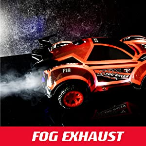 remote control car rc cars fog racer race led light lightup toy boys 8-12 kids lights drift girls