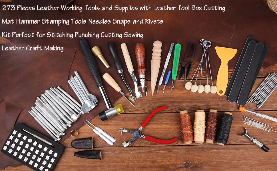 273 Pieces Leather Working Tools