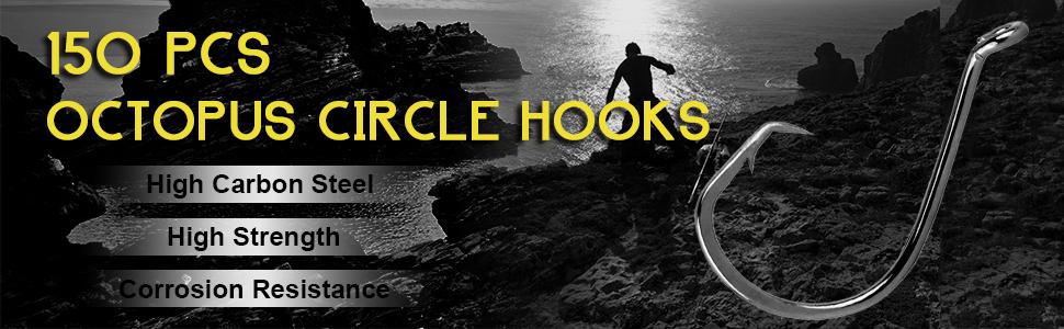 150pcs octopus circle hooks