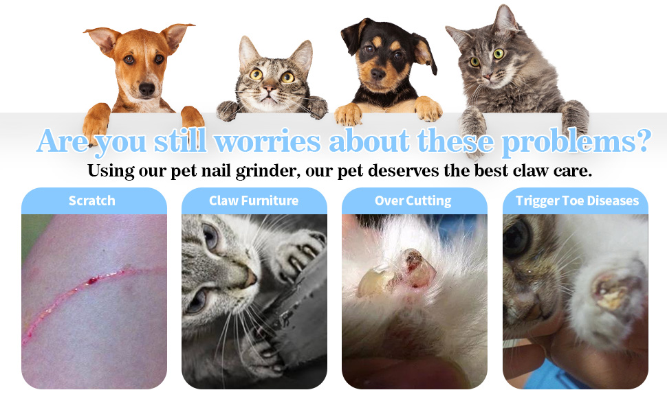 Our nail clippers help you solve pet nail problems