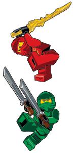 LEGO Ninjago Movie Lloyd Kai Staticker Wall Cling