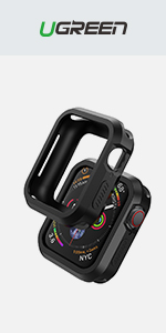 UGREEN 2 Pack Apple Watch Case Protective Apple Watch Series 4 44mm Case TPU Ultra Thin