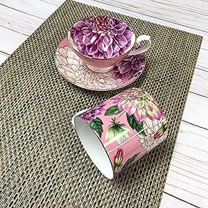 Mug and Teacup Saucer Set