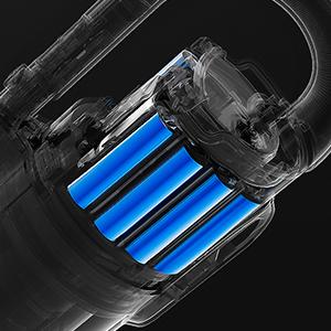 Batterie 2 500 mAh rapidement rechargeable