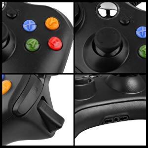 Manette de jeu pour manette de jeu filaire USB pour Xbox 360 avec boutons à l'épaule