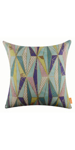 "LINKWELL 18""x18"" Fashion Triangular Shape Geometry Burlap Pillow Cover"