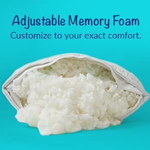 enerplex memory foam customizable comfort pillow best sleep bed pillow