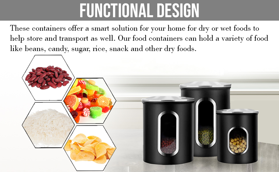 Multi-functional canister set