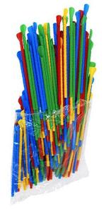 Multi-Color Spoon Straws