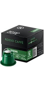 Nespresso nespreso capsules pods caps capsule pod cup rosso caffe