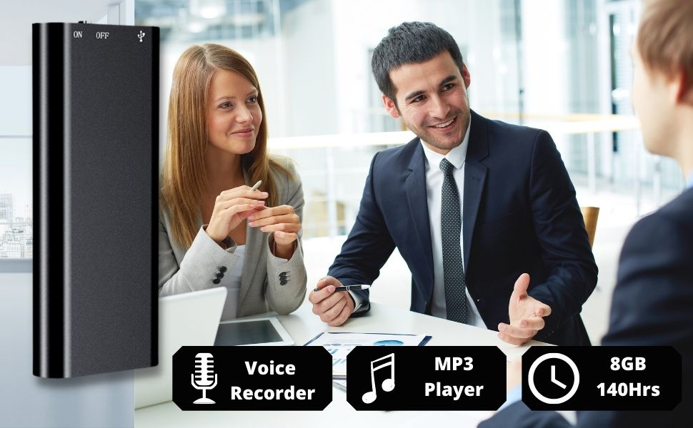 recorder voice audio digital recording usb tape microphone device espia activated cassette mini clip
