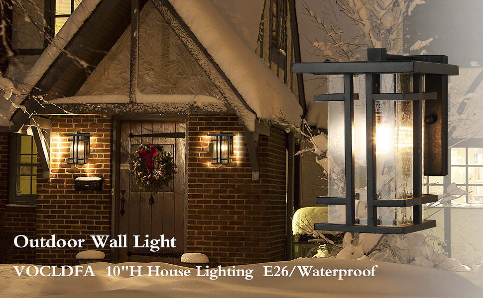 VOCLDFA outdoor wall lamp fixtures wall mount outside wall lights porch light patio lamp