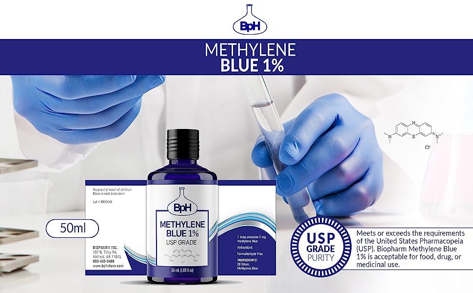 pharmaceutical grade methylene blue, methylene blue supplement, methylene blue for humans