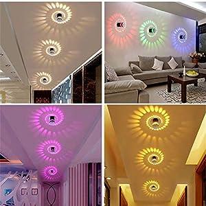 Spiral LED Wall Light, Aluminum Sconce Ceiling Light Aisle Bedroom Vestibule Foyer Cafe Corridor LED