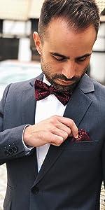 confezione regalo nobile e istruzioni incl cravatta a farfalla cucita a mano regolabile per lauto legatura Massi Morino /® Papillon realizzato in seta al 100/%