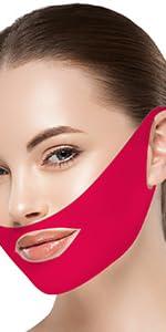V-Line Chin lifting Mask-Red