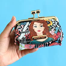 monedero estampado kisslock nicolelee