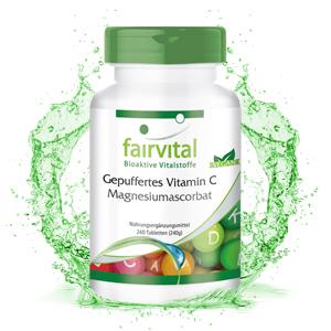 Vitamina C comprimidos - Ascorbato de Magnesio - VEGANO - 240 ...