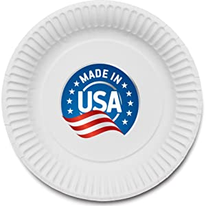 Stock Your Home 9-Inch Paper Plates Uncoated, Everyday Disposable Plates