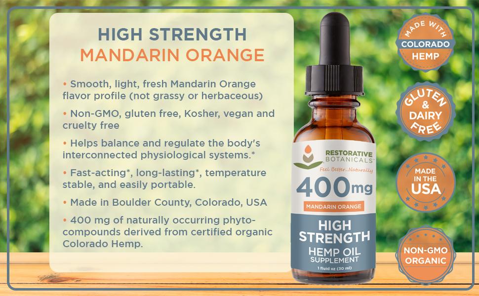 High Strength 400 Mandarin Orange