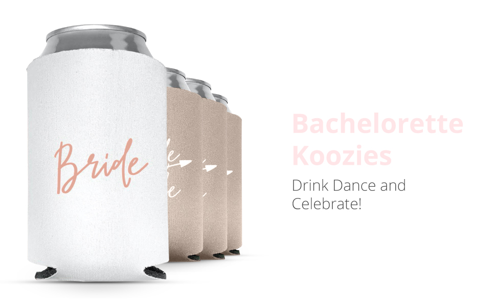 Can Coolers Bachelorette Wedding Party Gifts And Favors Bear Huggers Bridesmaids Can Coolers
