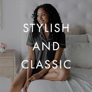 classic style nursing and maternity pajama set