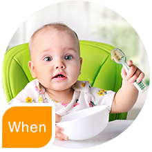 when 6 months six baby babies feeding gootensils numnum baby led weaning blw