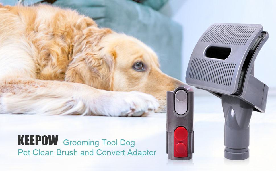 KEEPOW Groom Tool Dog Pet Cleaning Brush for Dyson V7, V8, V10 Animal Cleaner
