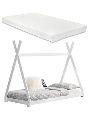 en.casa] Cama para niños pequeños con colchón Cama Infantil ...