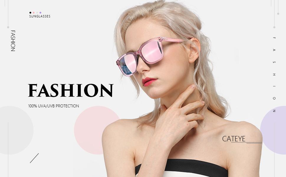Myiaur Lunettes de soleil mode pour femmes avec conduite polarisée et anti-reflets 100% protection UV