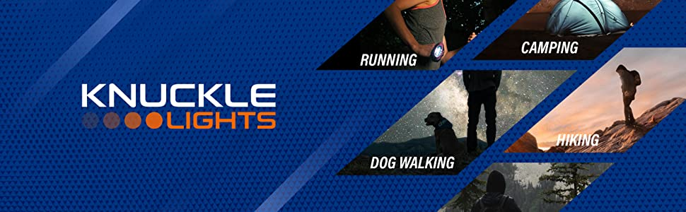 knuckle lights for running camping dog walking hiking and walking
