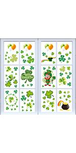 st patricks day window cling stickers