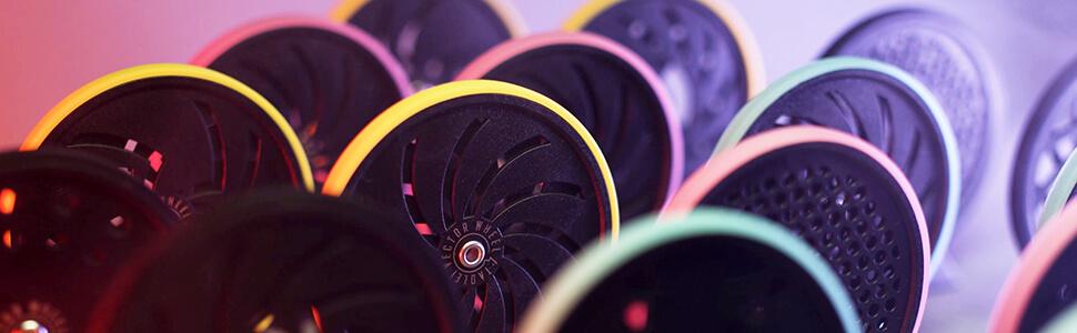 T1 Luminous Fingertip Toy Office SUN Wheel Spinner Gyroscope