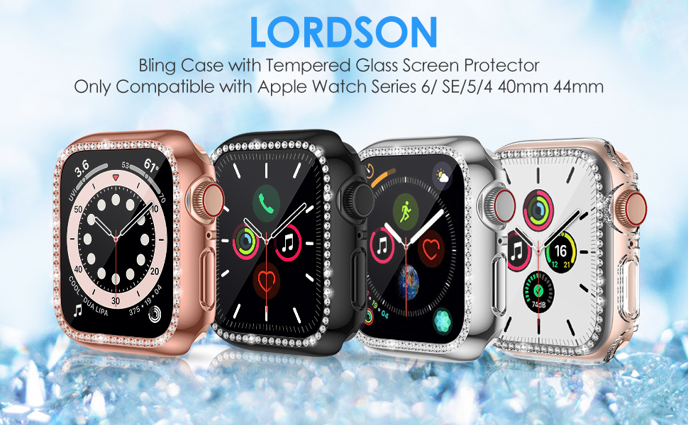 Apple Watch Series 6/ SE/5/4 40mm 44mm Bling Screen Protector Case