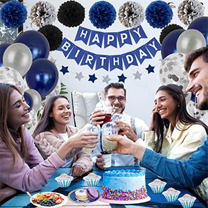 Blue birthday balloon for girls