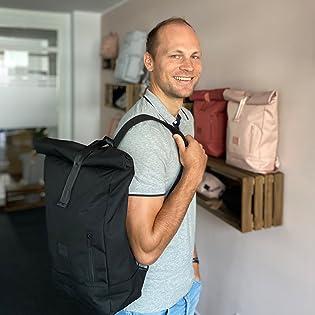 Johnny Urban Junior Marke Brand Rucksack Rolltop Rucksäcke Taschen