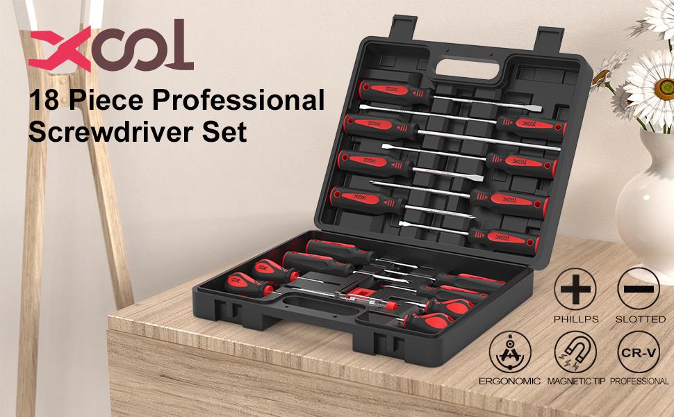 XOOL 18 Piece  Professional Screwdriver Set