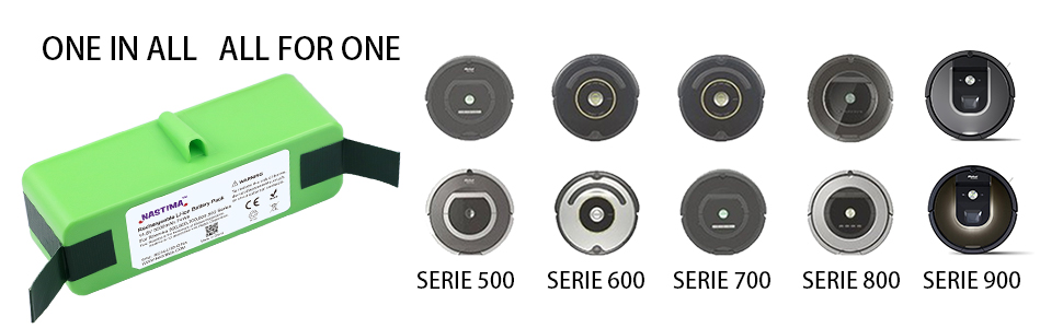 Batteria 5000mAh Per Aspirapolvere iRobot Roomba 770 780 790 800 870 880 900