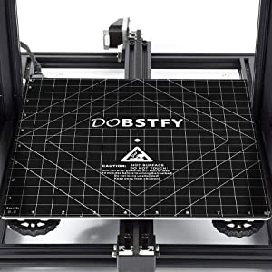 3D printer build surface with 3M Adhesive