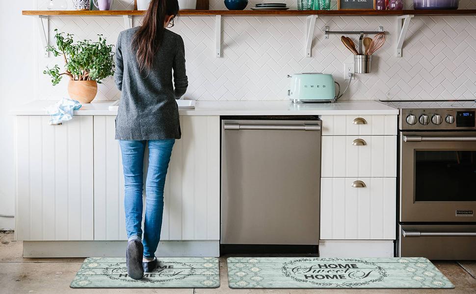 kitchen rugs and mats set