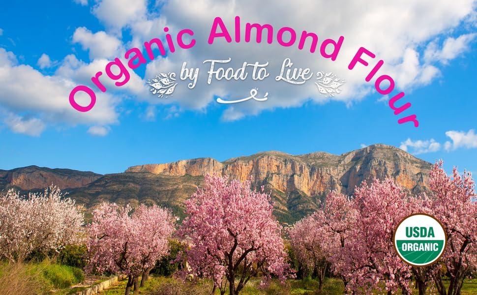 organic almond flour, food to live