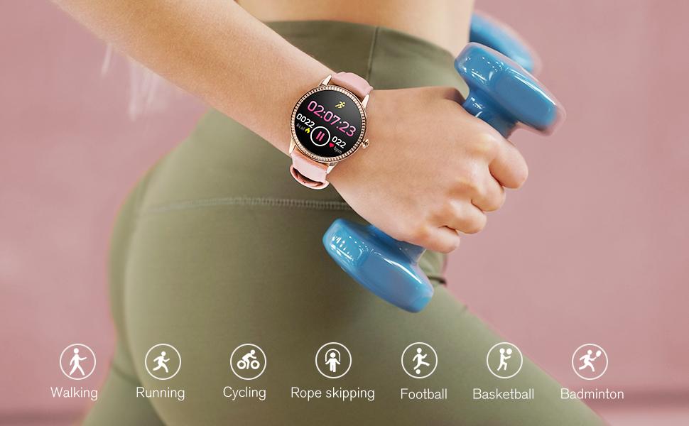 Smart Watch Fitness Tracker Watches for Women, Fitness Watch Heart Rate Monitor IP68 Waterproof